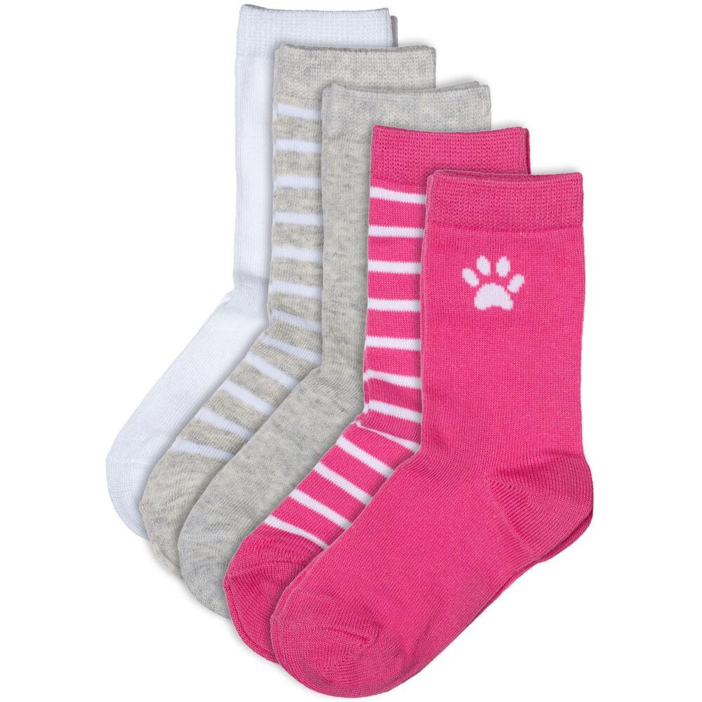 Basic luomupuuvillaiset sukat 5-pack, pink mix, hi-res