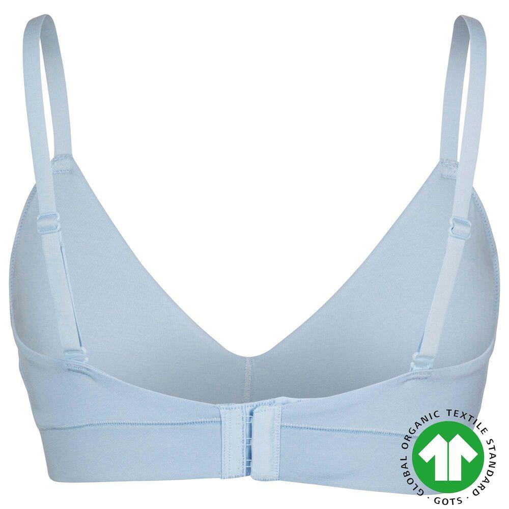 Luomupuuvillaiset rintaliivit, sky blue, hi-res