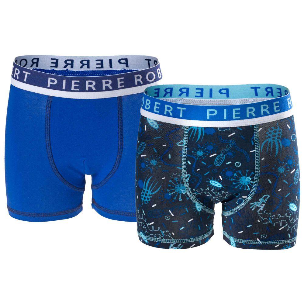 Luomupuuvillaiset bokserit (GOTS) 2-pack, navy/dark blue, hi-res