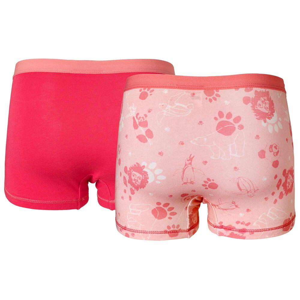 Trosor i ekologisk bomull 2-pack, pink, hi-res