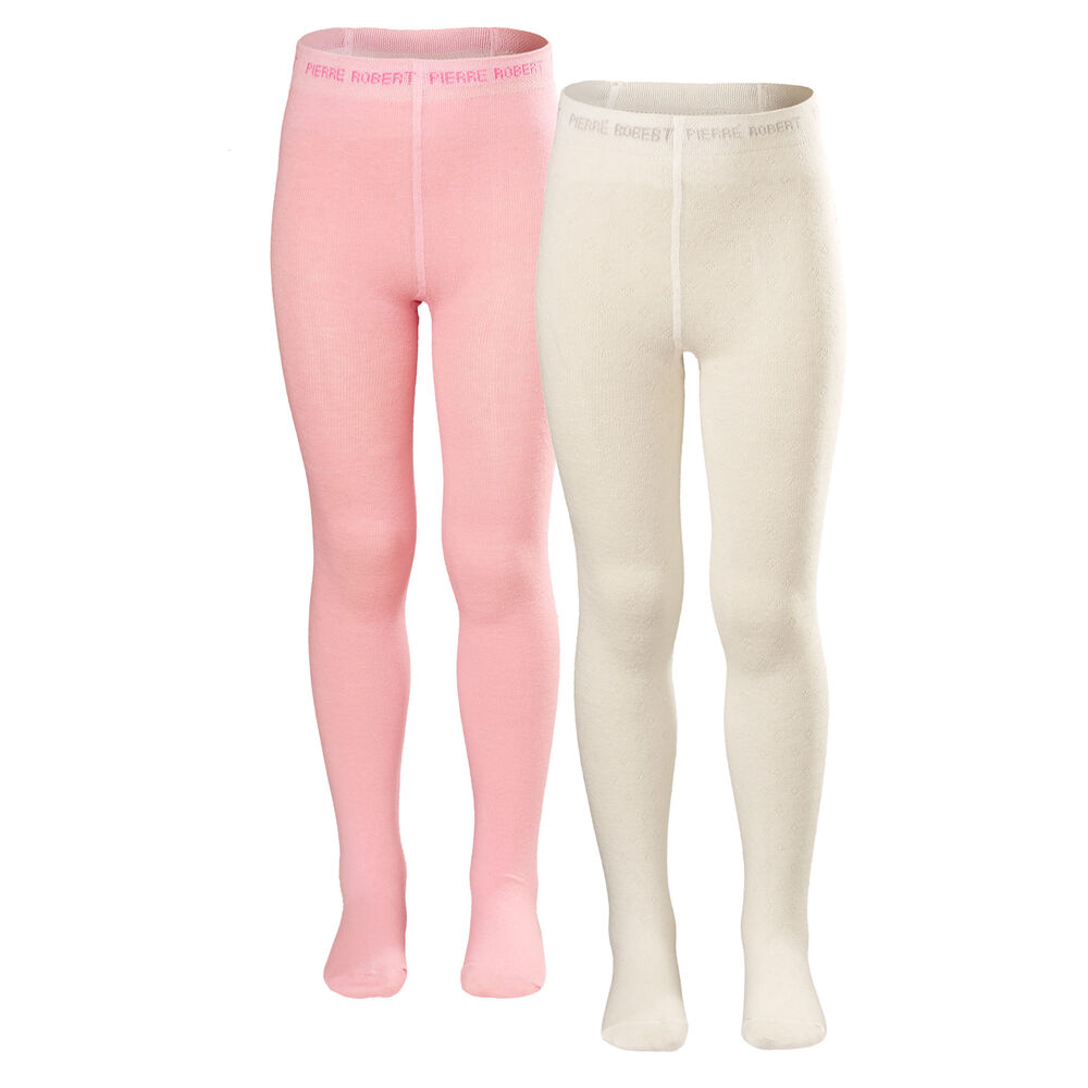 Sukkahousut 2-pack, whinter white and soft pink, hi-res