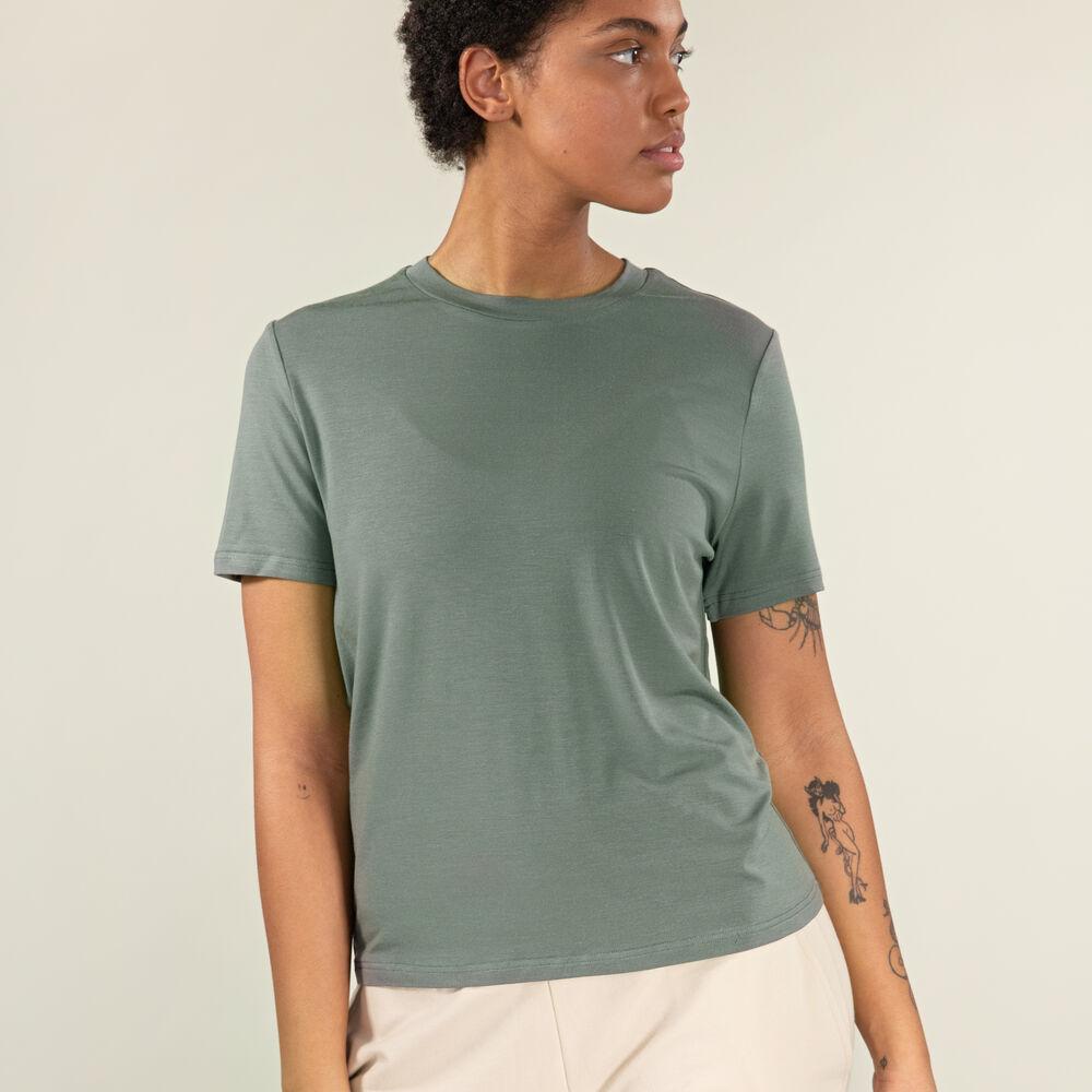 T-shirt Tencel™/Ull, grey-green, hi-res