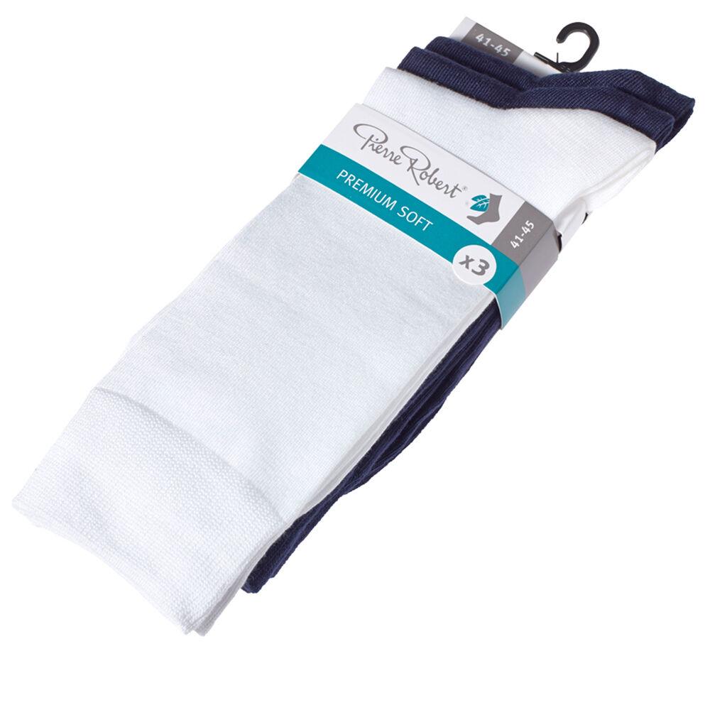 Premium modaalisukat 3-pack, white/navy/navy 1-17, hi-res