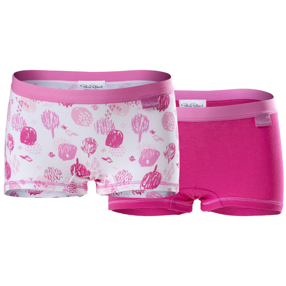 Luomupuuvillaiset bokserit (GOTS) 2-pack, strong pink, hi-res
