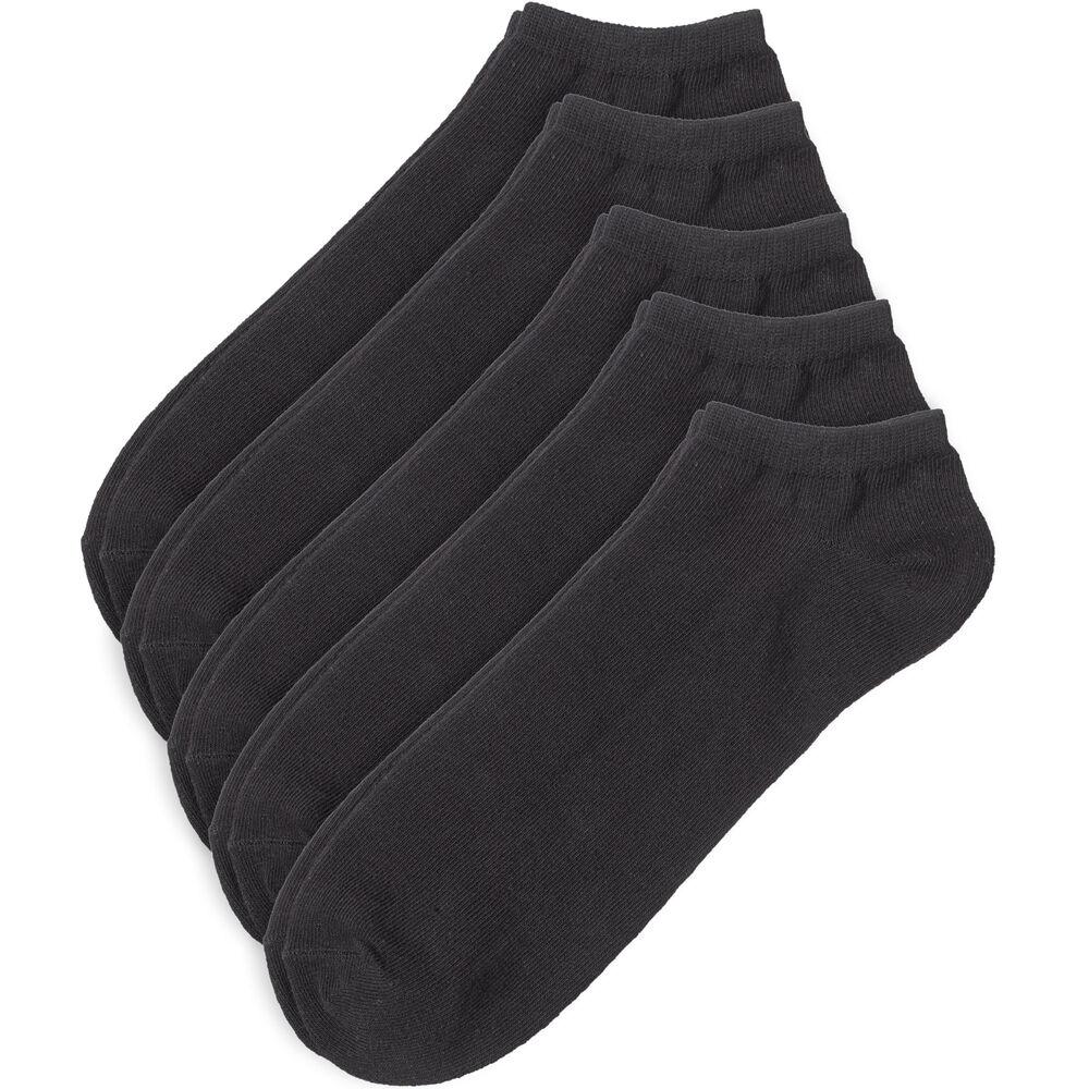 Matalavartiset nilkkasukat 5-pack, black, hi-res