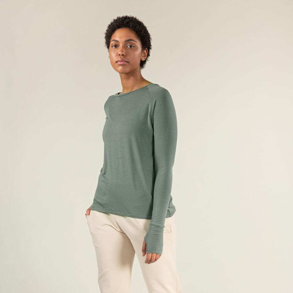 Tröja i Tencel™/Ull, grey-green, hi-res