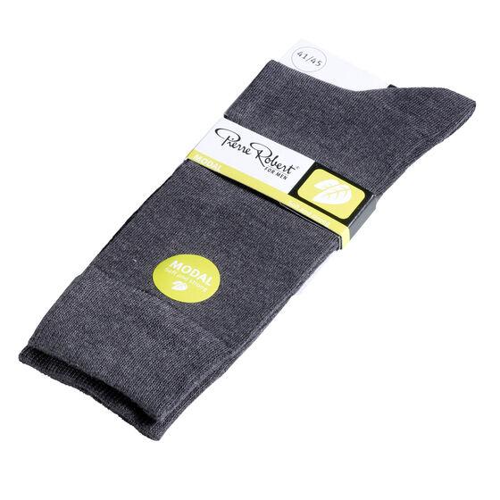 SOKKER MODAL 2-PAK, grey melange, hi-res